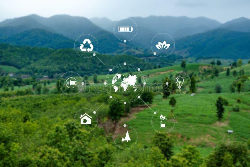 队企业能量利用,持续力能承受元素的能源 免版税库存照片