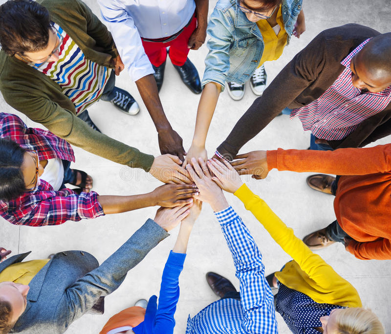队公司配合合作协助概念 库存照片