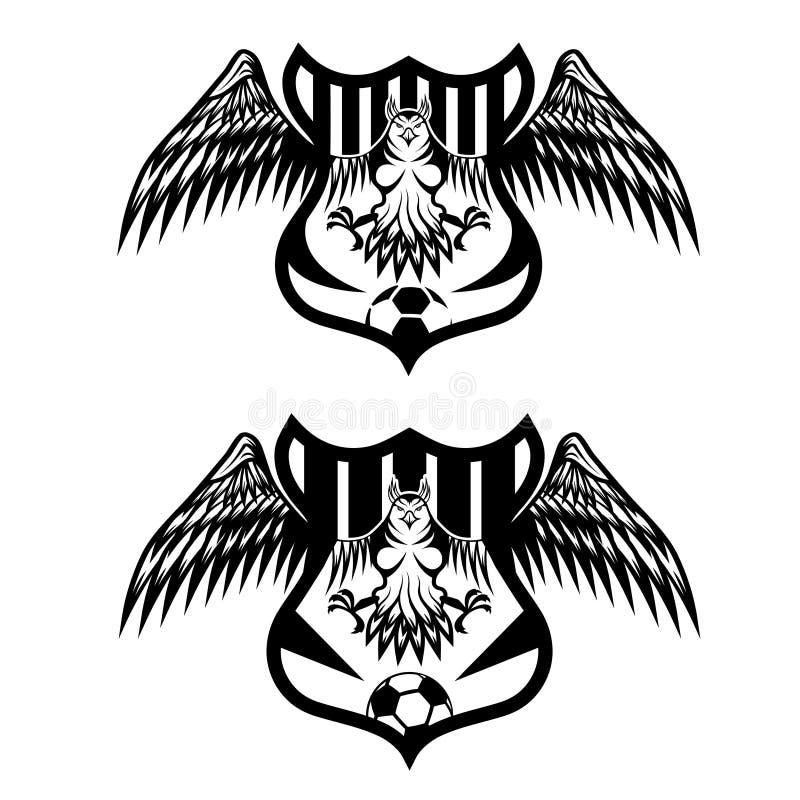 队冠设置与老鹰传染媒介设计模板 皇族释放例证