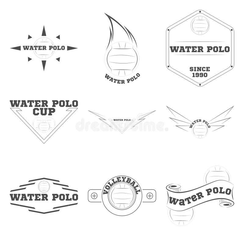 队和杯子的水球商标 库存例证