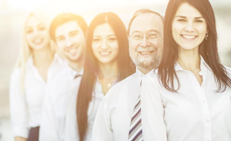 队工作专业企业的队的概念紧挨着站立 免版税图库摄影
