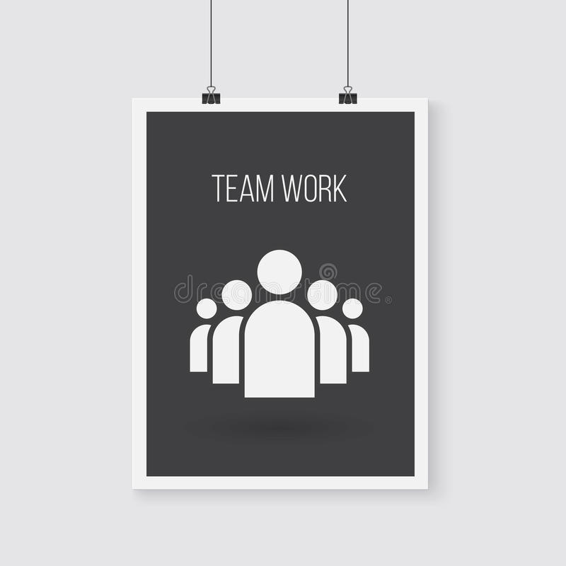 Download 队工作在墙壁上的传染媒介海报 传染媒介组图标 向量例证. 插画 包括有 通信, 合伙企业, 员工, 人力 - 62527841