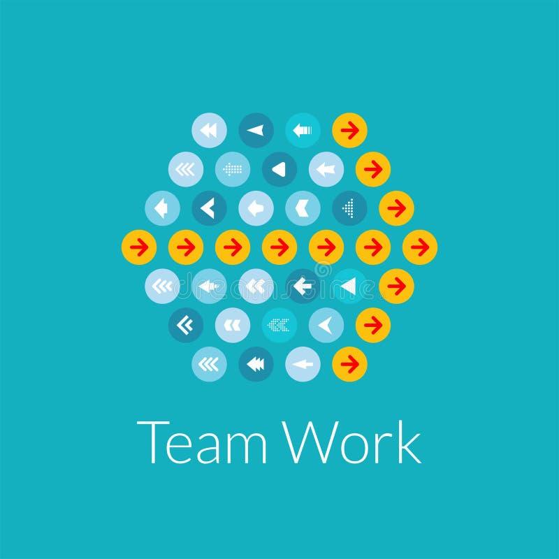 队工作平的设计传染媒介例证概念 向量例证