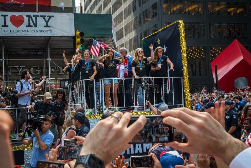 队美国游行 免版税图库摄影