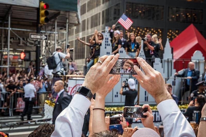 队美国游行 免版税库存图片