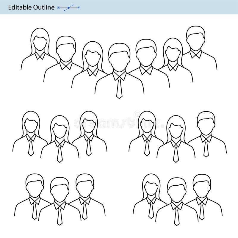 队象,领导象,队主角,专业小组,公司团队工作,合作,经理,集团公司,编辑可能的str 皇族释放例证