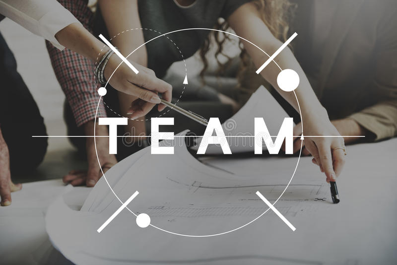 队配合合作合作概念 免版税库存图片