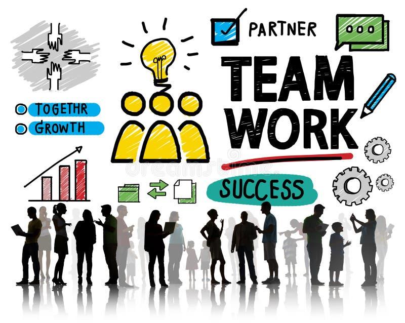 队配合小组合作组织概念 库存照片