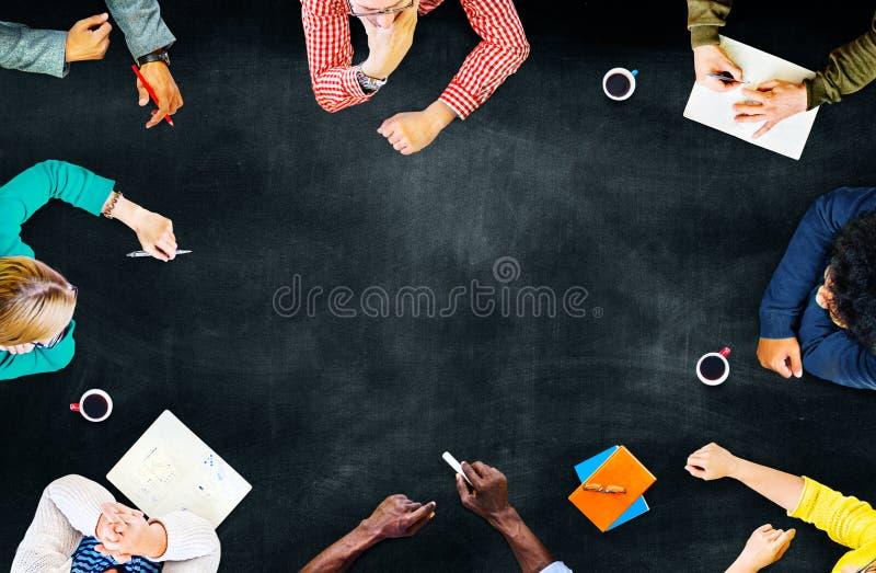 队配合讨论会议计划概念 库存图片
