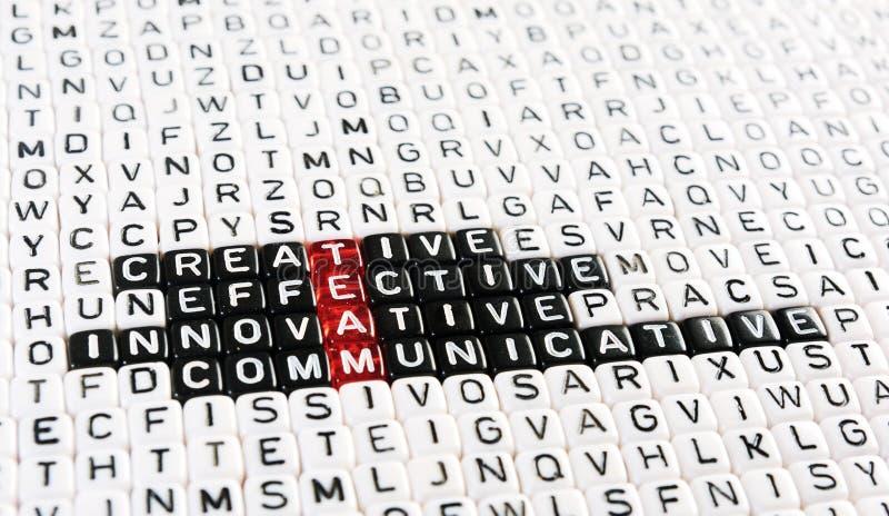 队首字母缩略词切成小方块 免版税库存照片