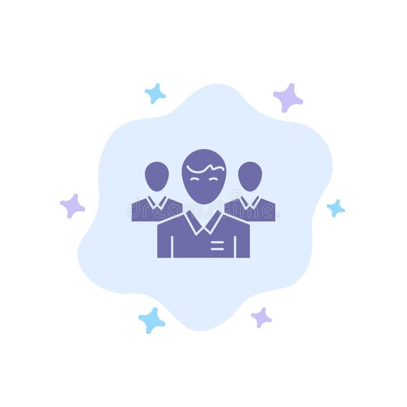 队,事务,Ceo,执行委员,领导,领导,在抽象云彩背景的人蓝色象 向量例证