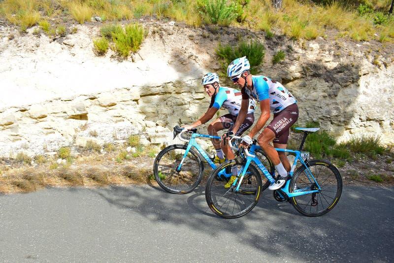 队AG2R La Mondiale La vuelta España 免版税图库摄影