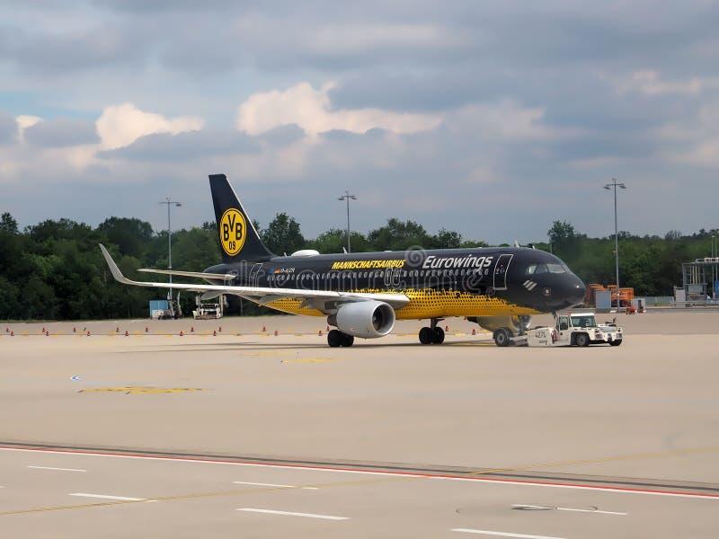 队BVB多特蒙德,德国足球队员空中客车  库存照片