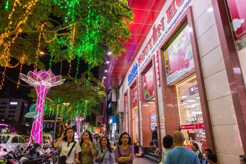 阮惠街,胡志明市 库存图片