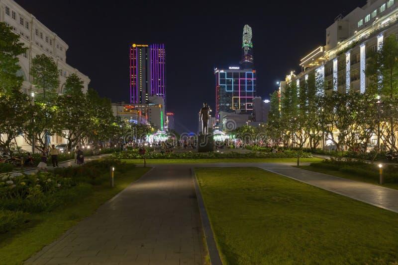阮惠街,胡志明,越南 库存照片