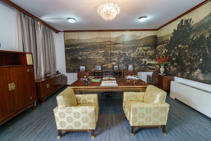 阮高祺在独立宫殿的室` s 免版税图库摄影