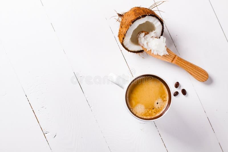 防弹咖啡 免版税库存照片
