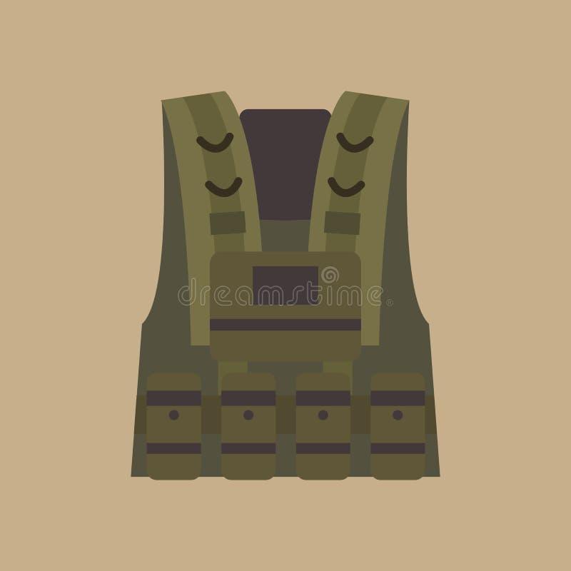 防弹背心军事设备 库存例证