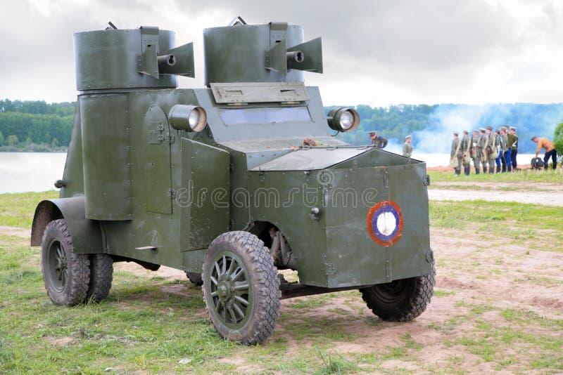 防弹车军事俄国显示 免版税库存图片