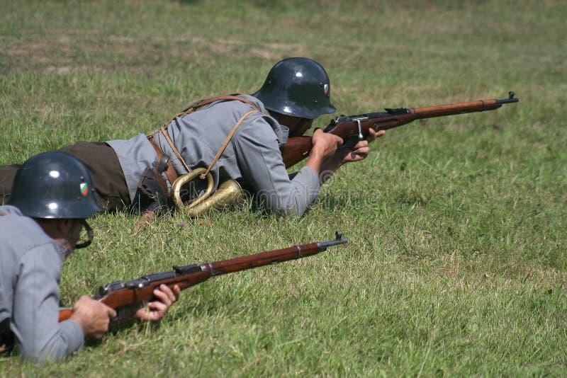 防御位置战士x 免版税库存图片