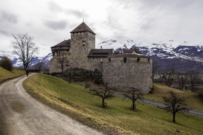 瓦杜兹城堡视图 免版税图库摄影