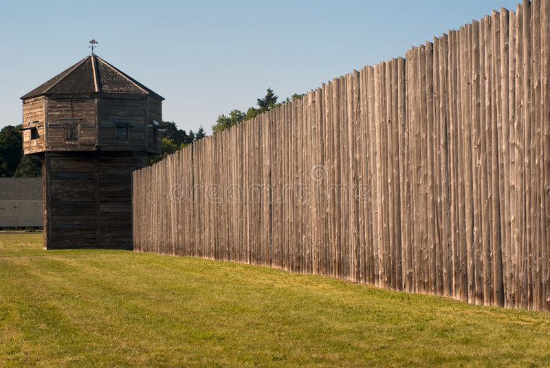 防御堡垒堡垒pinoeer塔温哥华 库存图片