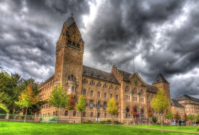 防御技术和获得联邦政府机关在科布伦茨 免版税库存图片