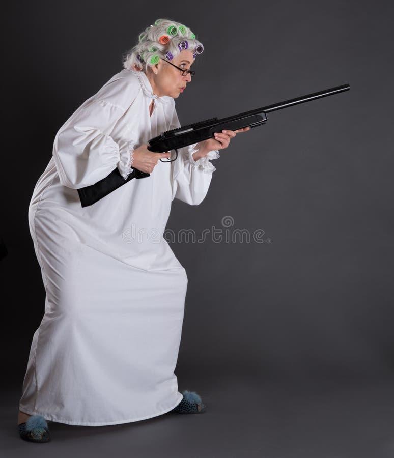 防御的祖母 免版税图库摄影