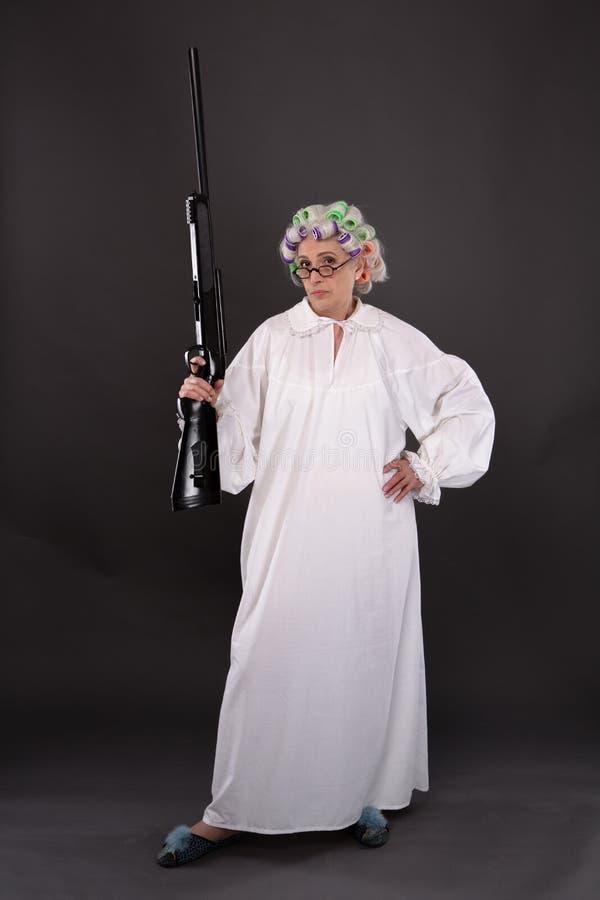防御的祖母 图库摄影