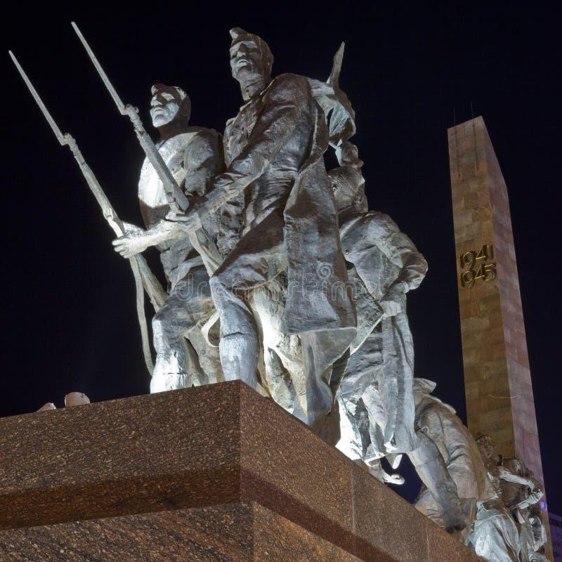 防御者英勇列宁格勒纪念碑 免版税库存照片