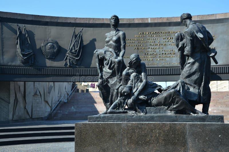 防御者英勇列宁格勒纪念碑 库存图片