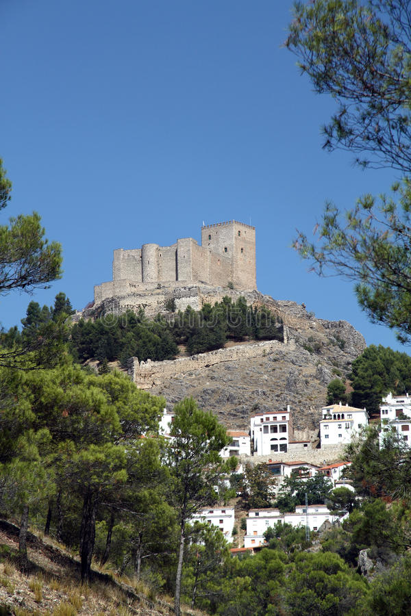 防御,塞古拉德拉谢拉村庄,哈恩省,西班牙 库存图片