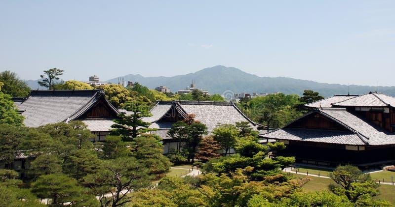 防御honmaru nijo宫殿 免版税库存图片
