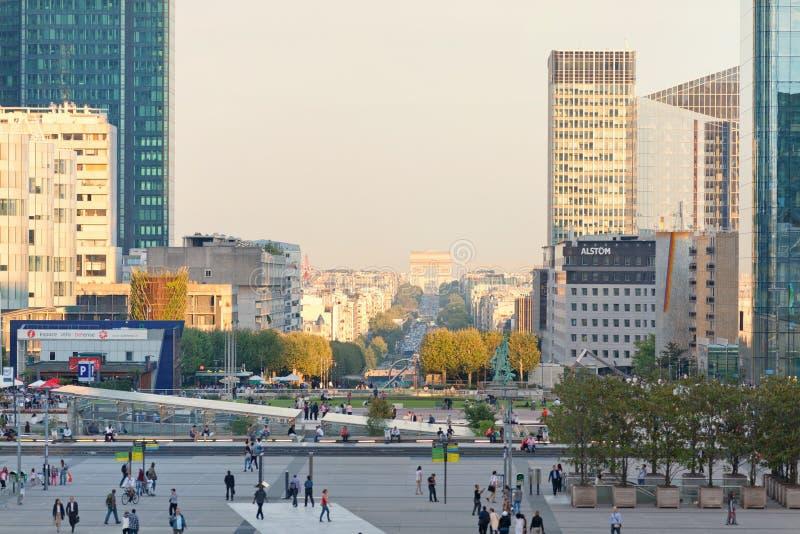 防御la巴黎 免版税库存图片