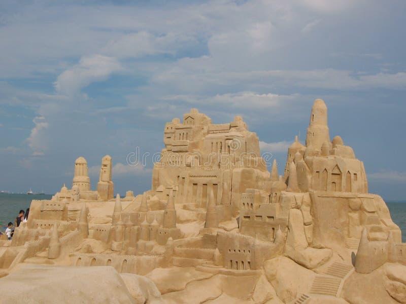 防御narnia沙子新加坡 免版税库存照片