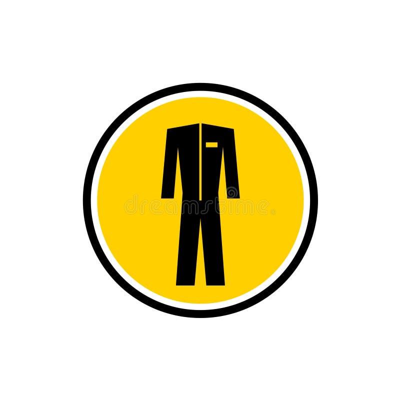 防护特别衣服黑色剪影 库存例证