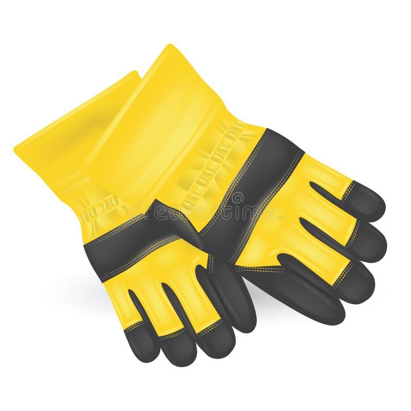 防护的手套 向量例证