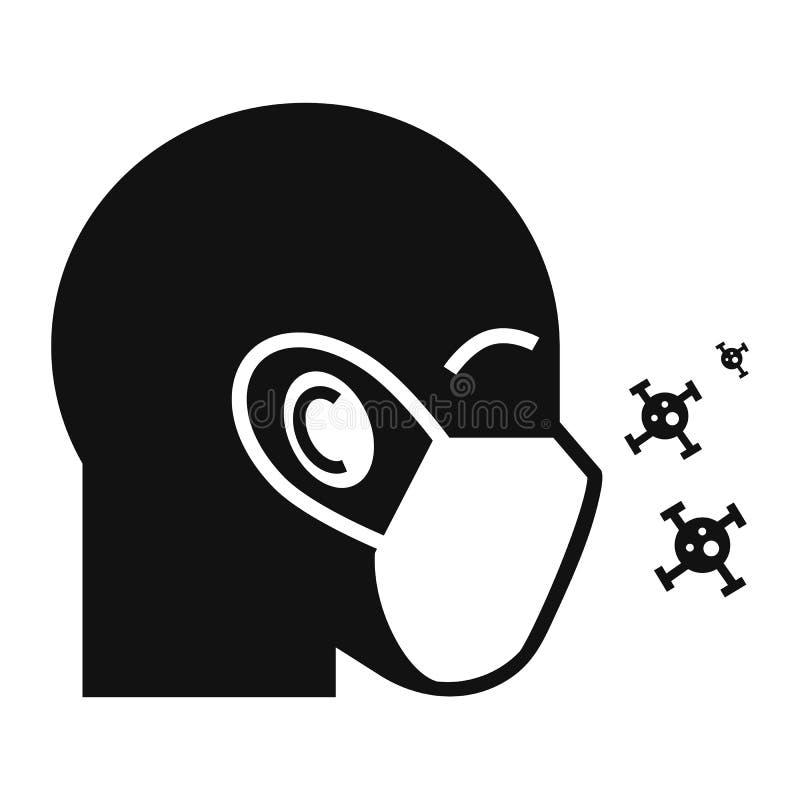 防护空气面膜象,简单的样式 皇族释放例证