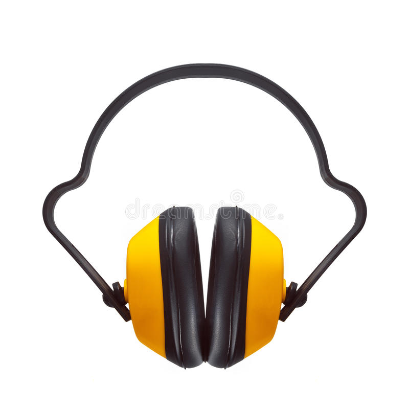 防护耳朵笨拙的人 免版税库存图片