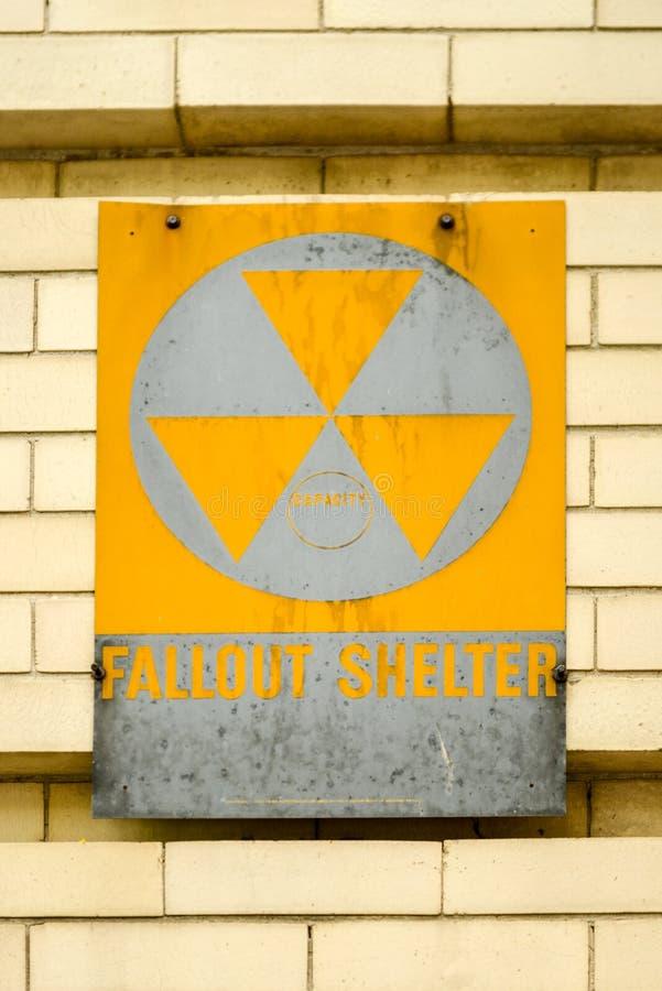 防核尘地下室标志 免版税图库摄影