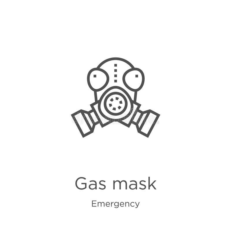 防毒面具从紧急收藏的象传染媒介 稀薄的线防毒面具概述象传染媒介例证 概述,稀薄的线防毒面具 向量例证