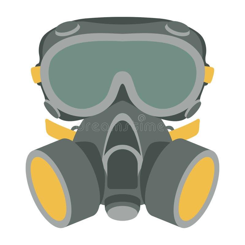 防毒面具传染媒介例证平的样式前面 向量例证