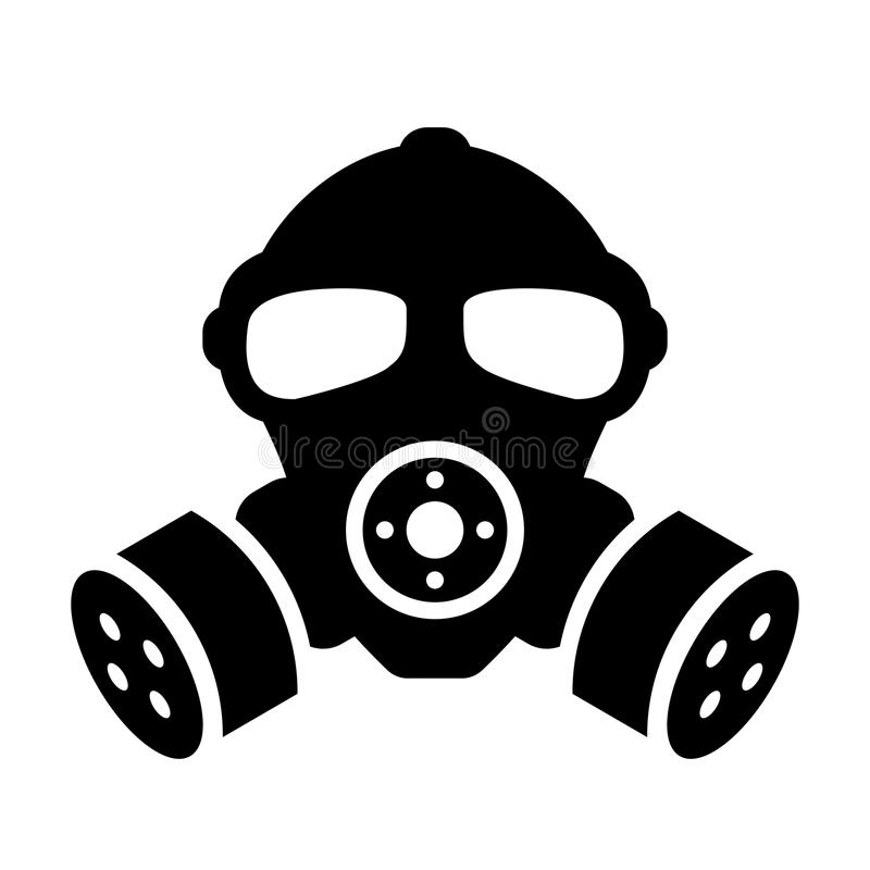 防毒面具传染媒介象 向量例证