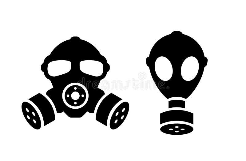 防毒面具传染媒介象 库存例证
