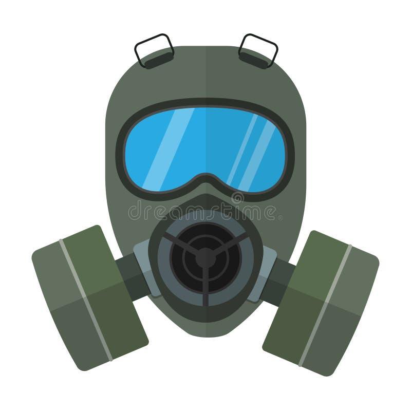 防毒面具平的传染媒介例证 库存例证