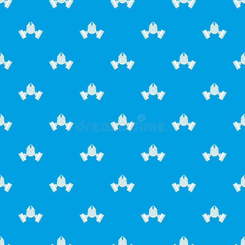 防毒面具样式无缝的蓝色 向量例证