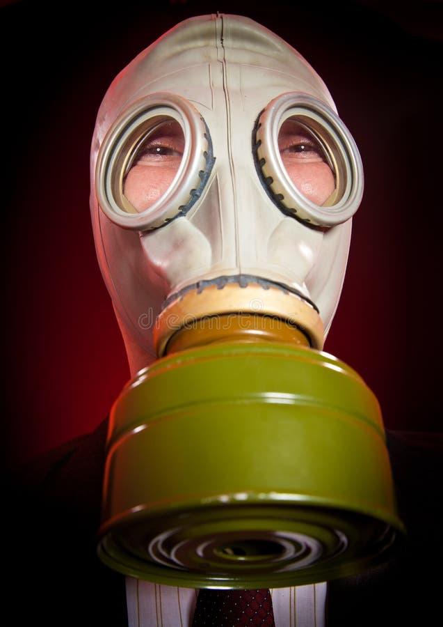 防毒面具的人员 免版税库存图片