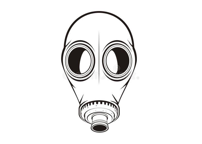 防毒面具简单的例证 向量例证