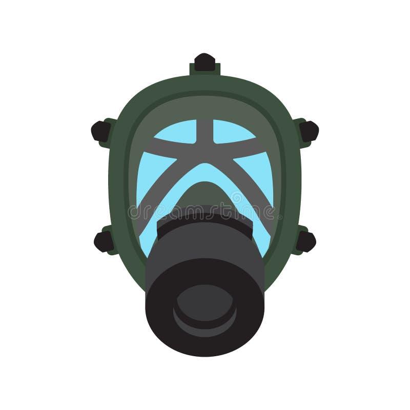 防毒面具被隔绝的平的传染媒介象 皇族释放例证