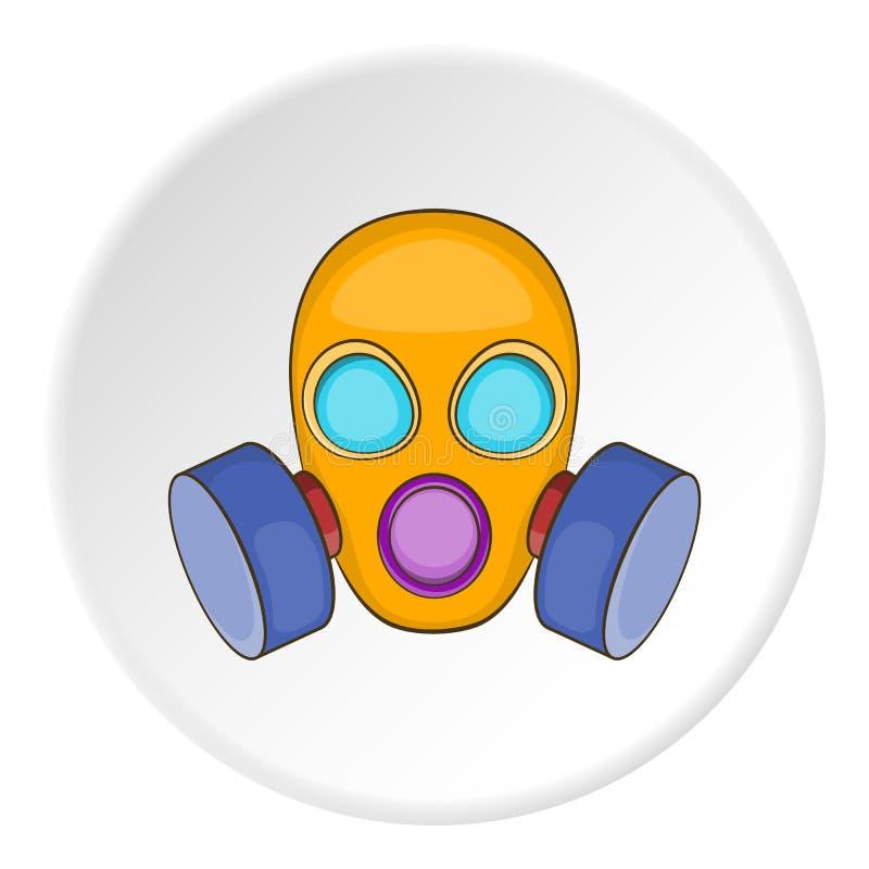 防毒面具象,动画片样式 库存例证